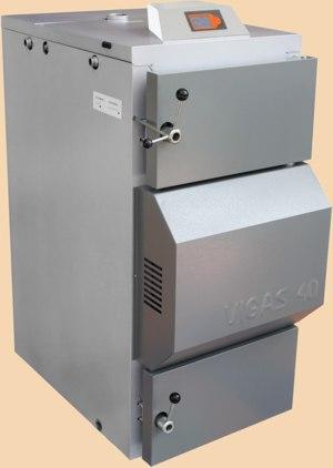 Cazan cu apă caldă VIGAS 40 Lambda Control cu regulatorul AK 3000